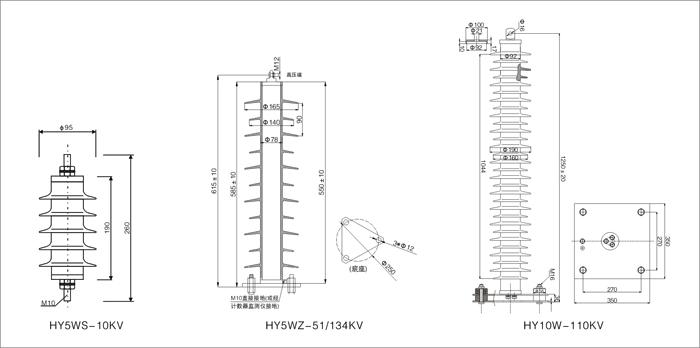 35kv线路避雷器安装接线图