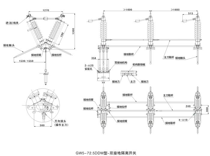 gw5型户外高压隔离开关
