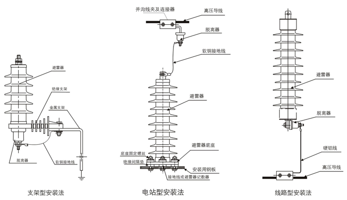 备雷器安装接线图